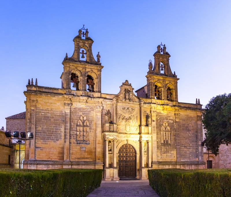 Basilica de Santa Maria, Ubeda, Spain. Basilica de Santa Maria church in Ubeda, Andalusia, Spain stock photo
