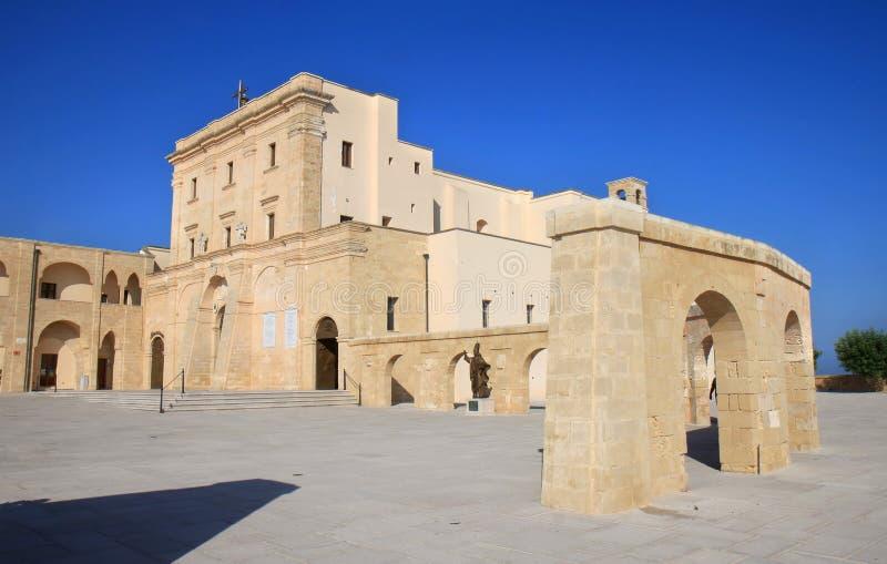 Basilica dei terrae di Santa Maria de Finibus, Santa Maria di Leuca, Italia fotografia stock libera da diritti