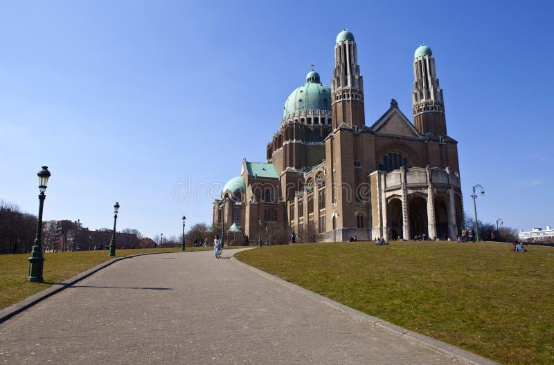 Basilica del cuore sacro a Bruxelles fotografia stock