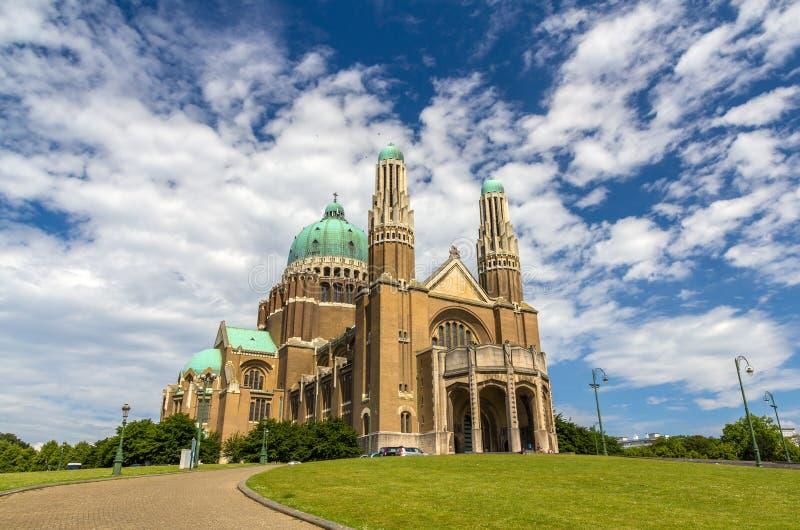 Basilica del cuore sacro - Bruxelles fotografia stock libera da diritti