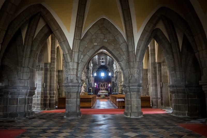 Basilica del interiour della st Procopius immagine stock