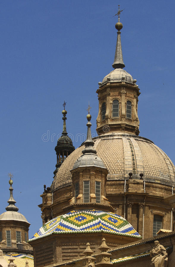 Basilica del Pilar Zaragoza photographie stock