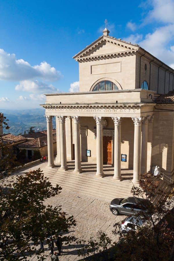 Basilica del San Marino fotografie stock libere da diritti
