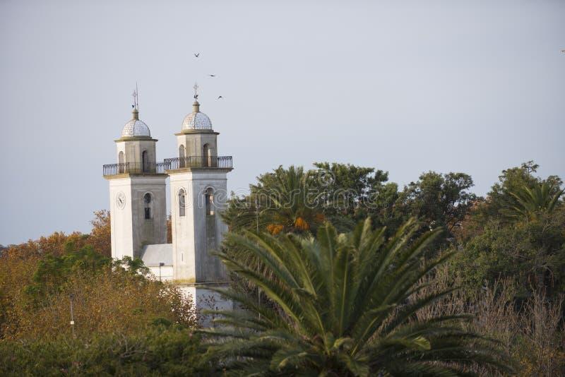 Basilica del Santisimo Sacramento, kerk in Uruguay stock fotografie