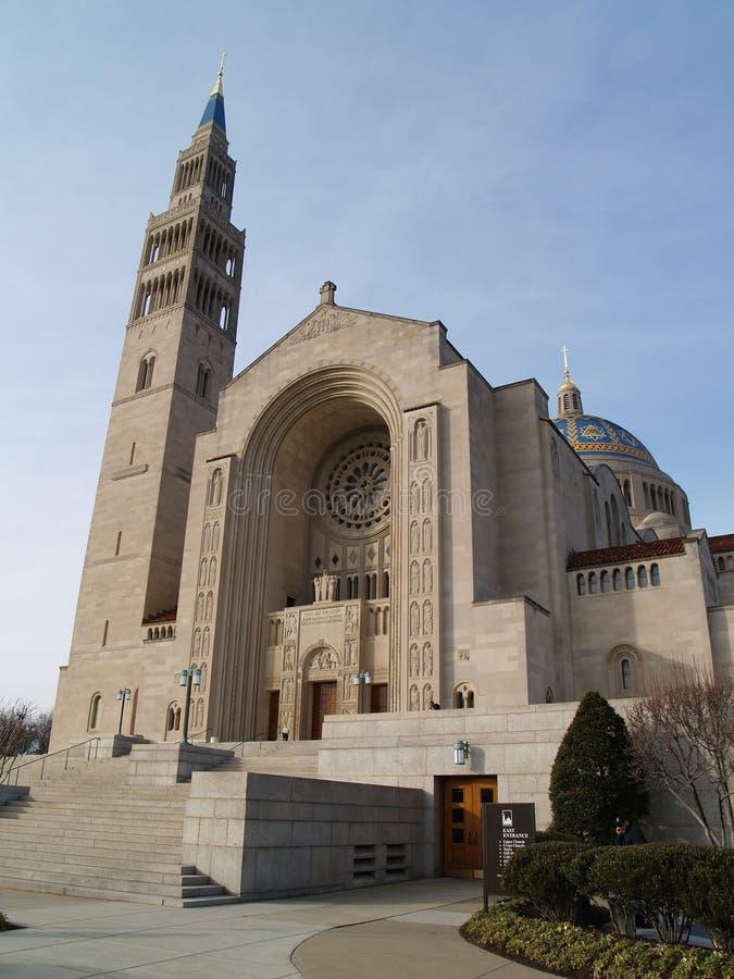 Basilica del santuario nazionale dell'immacolato fotografia stock libera da diritti