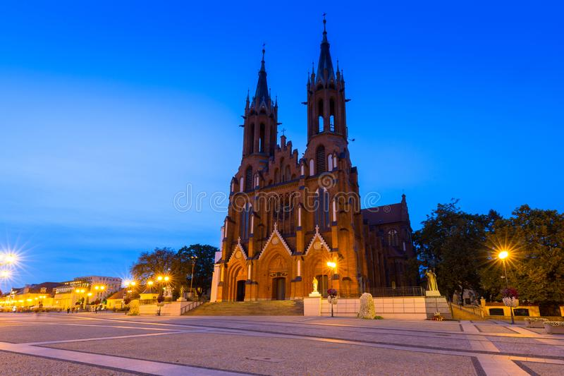 Basilica dell'Assunzione della Beata Vergine Maria a Bialystok, Polonia immagine stock libera da diritti