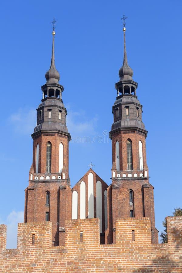 Basilica dell'incrocio santo, Opole, Polonia della cattedrale fotografia stock