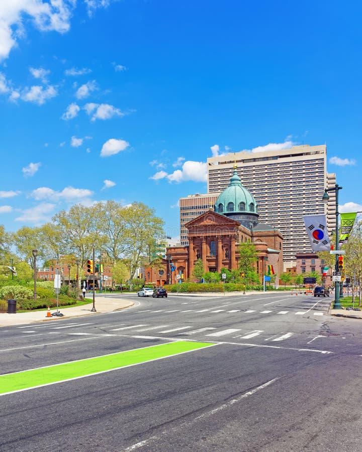 Basilica della cattedrale dei san Peter e Paul di Filadelfia Penn immagine stock