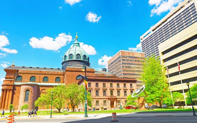 Basilica della cattedrale dei san Peter e Paul in Filadelfia immagine stock libera da diritti