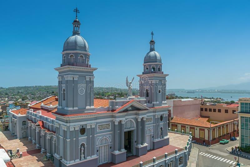 Basilica della cattedrale della nostra signora del Assumptio in Santiago de Cuba fotografie stock