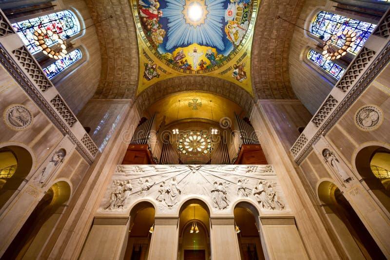 Basilica della chiesa cattolica nazionale del santuario immagine stock libera da diritti