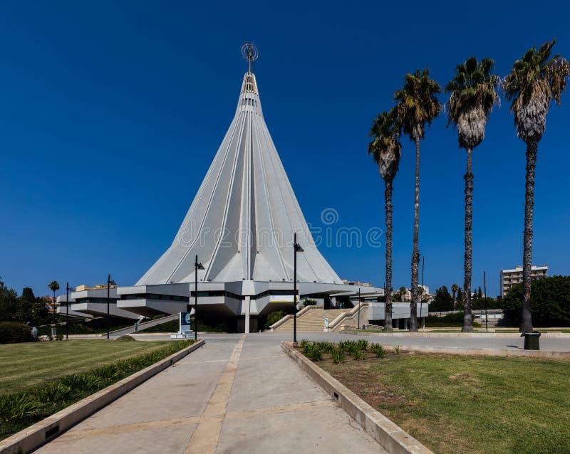 Basilica della nostra signora degli strappi a Siracusa, Sicilia, Italia immagini stock libere da diritti