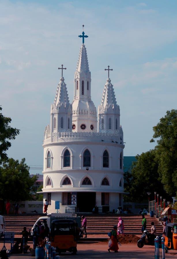 Basilica della nostra signora dei buona salute in velankanni immagini stock