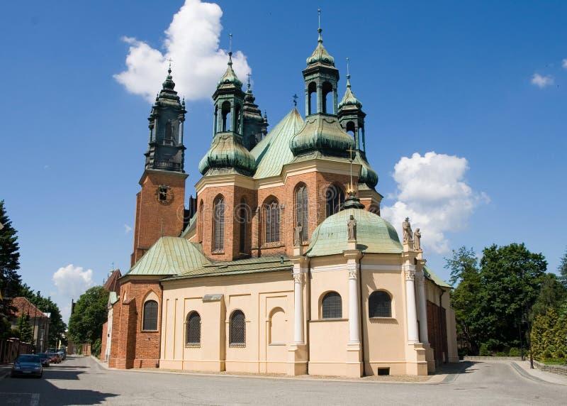 Basilica della st Peter e della st Paul a Poznan fotografia stock