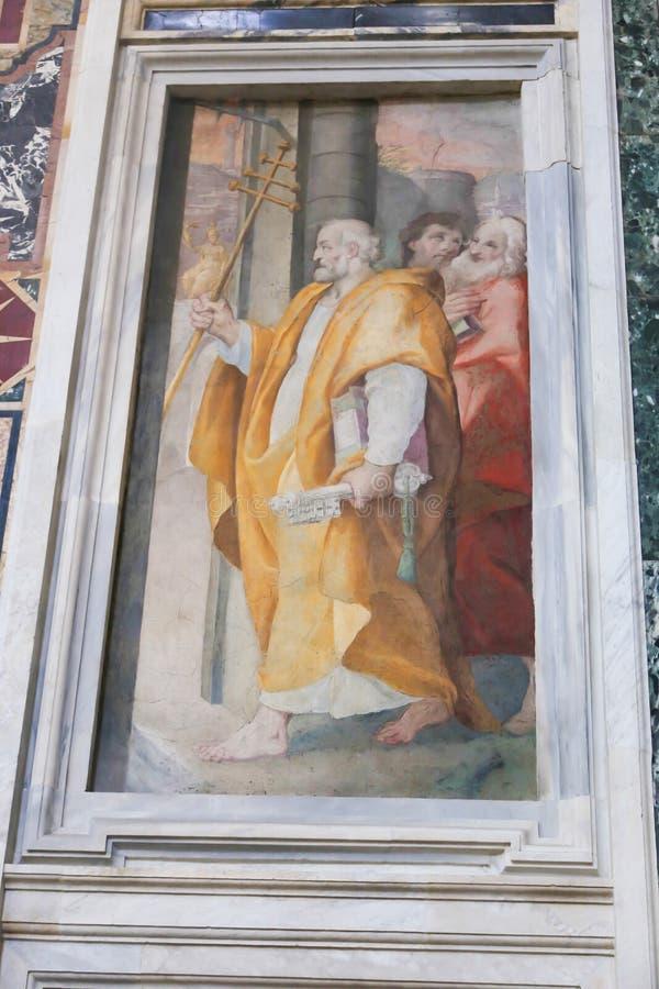 Basilica della st Petero, Vaticano fotografia stock libera da diritti