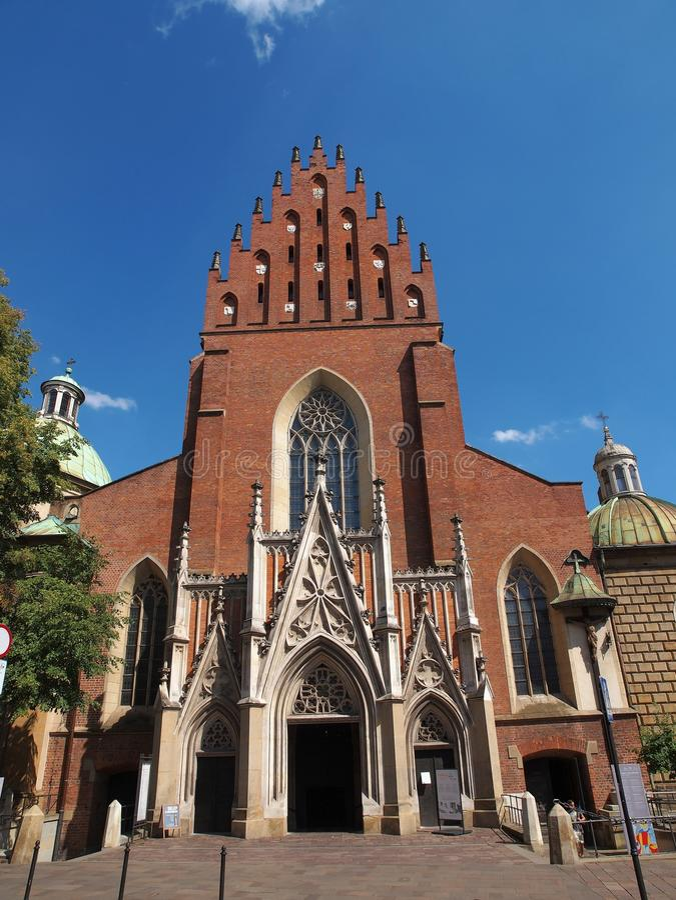 Basilica della trinità santa a Cracovia, Polonia immagini stock libere da diritti