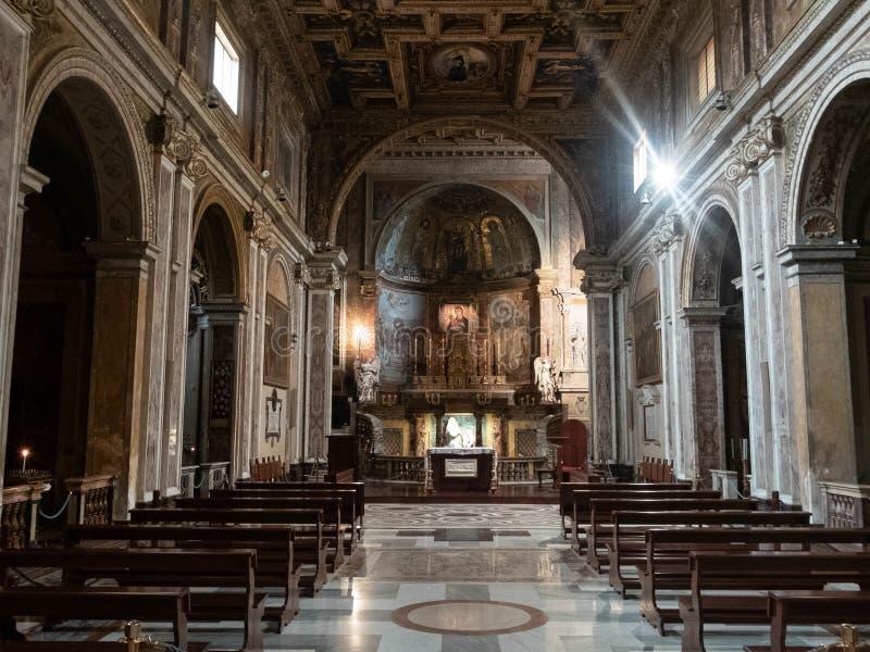 Basilica di圣诞老人弗兰切斯卡Romana 库存照片