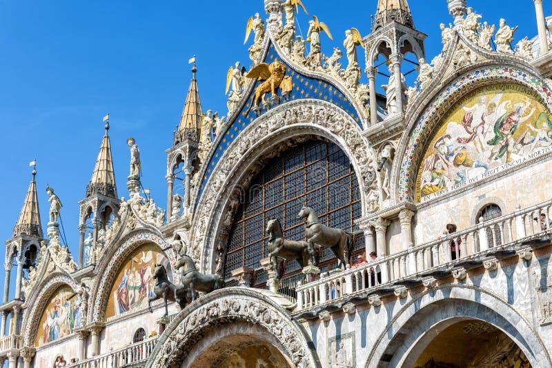 Basilica di圣Marco在威尼斯,意大利 免版税图库摄影
