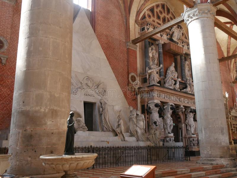 Basilica di Frari - di Venezia fotografia stock