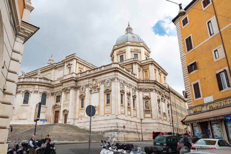 basilica di maggiore玛丽亚・圣诞老人 免版税库存照片