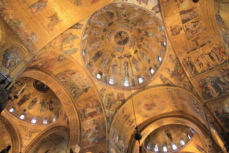 basilica di marco san venice arkivfoton