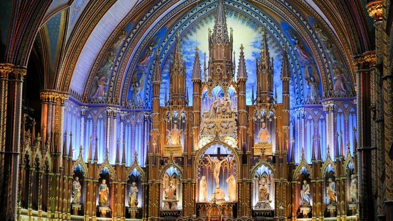 Basilica di Notre-Dame Montreal fotografia stock