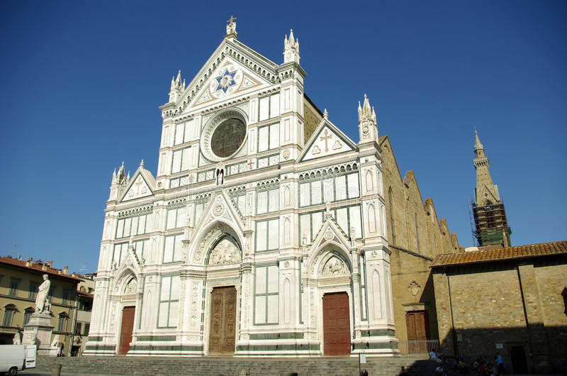 Basilica di S. Croce, Florence stock photos