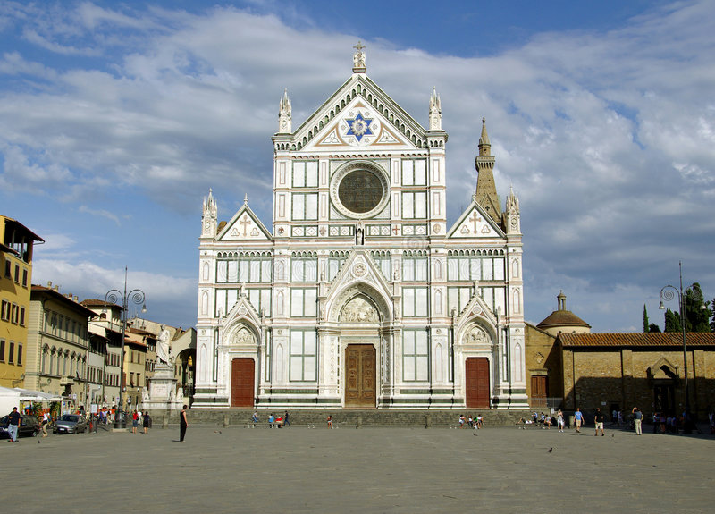 Basilica di S. Croce, Florenz lizenzfreies stockbild