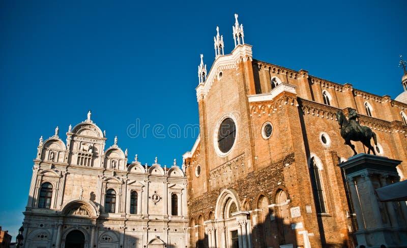 Basilica Di San Giovani e Paolo in Venetië, Italië stock afbeeldingen