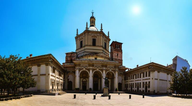 Basilica di San Lorenzo Maggiore a Milano immagini stock libere da diritti