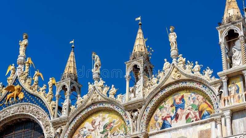 Basilica di San Marco or St Mark`s Basilica, Venice, Italy royalty free stock image