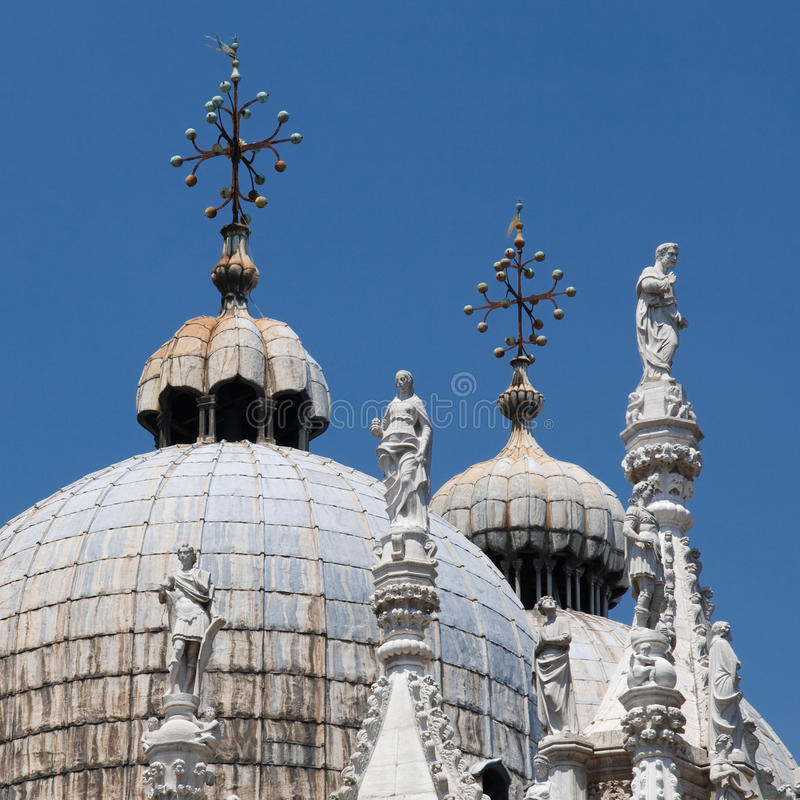 Basilica di San Marco St. Mark's Cathedral Venice royalty free stock photography