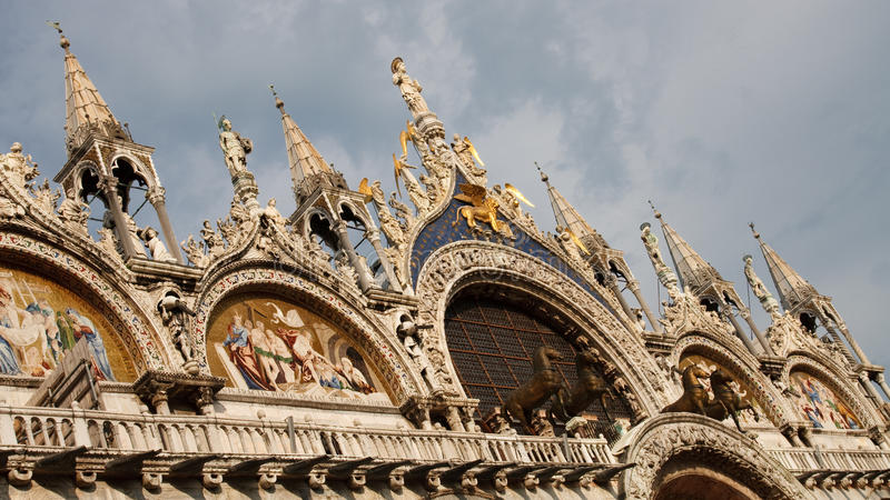 Basilica di San Marco St. Mark's Cathedral Venice royalty free stock image