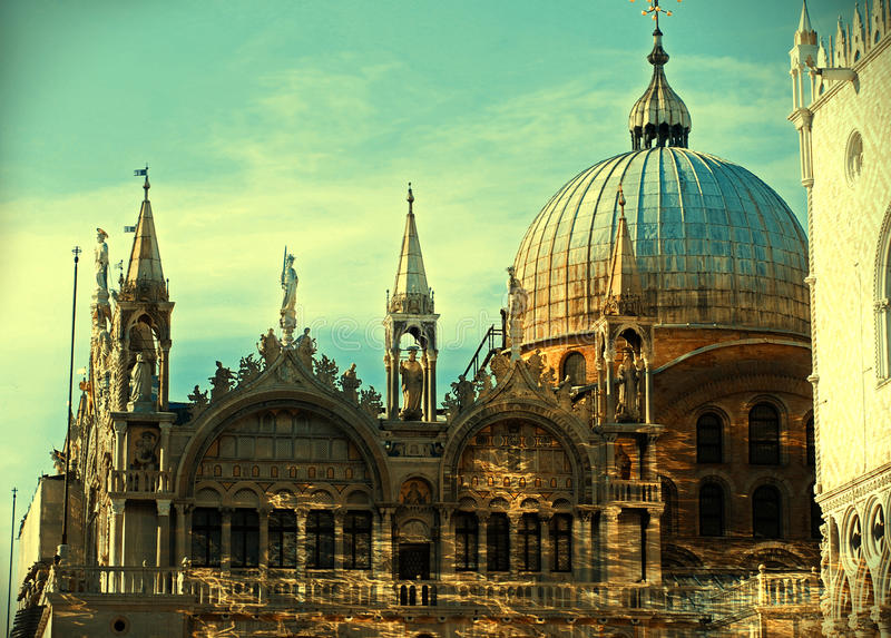Basilica di San Marco St. Mark s Cathedral Venice stock photography