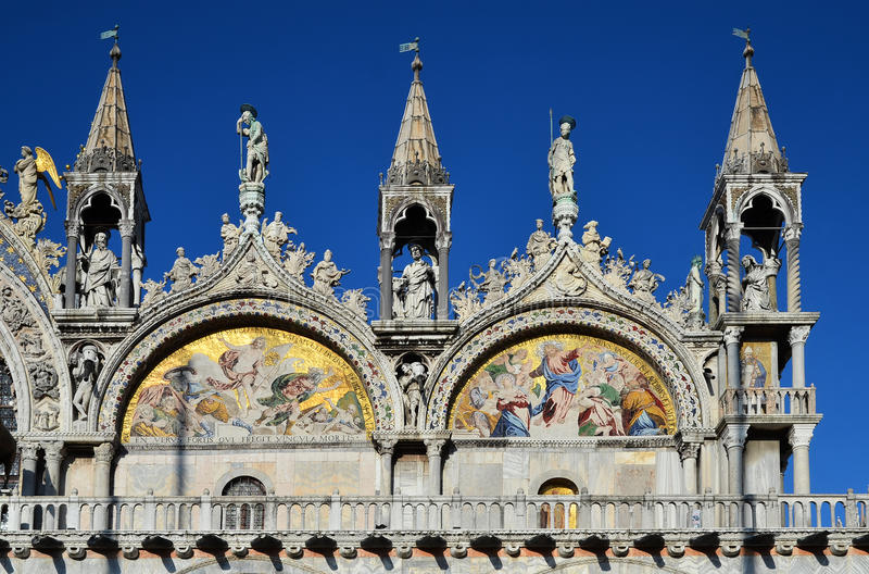 Basilica di San Marco, St. Marks Cathedral Venice stock photo