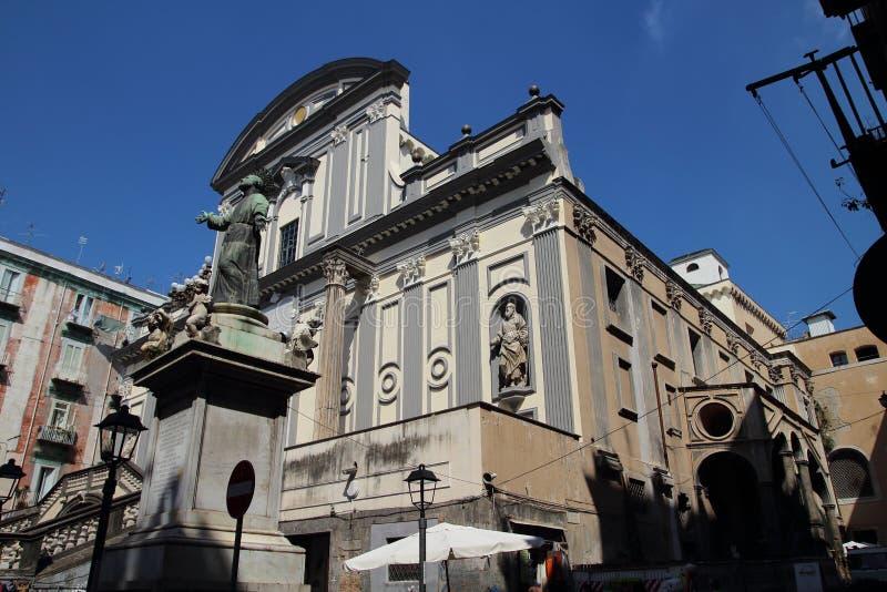 Basilica di San Paolo Maggiore, Napoli fotografia stock libera da diritti