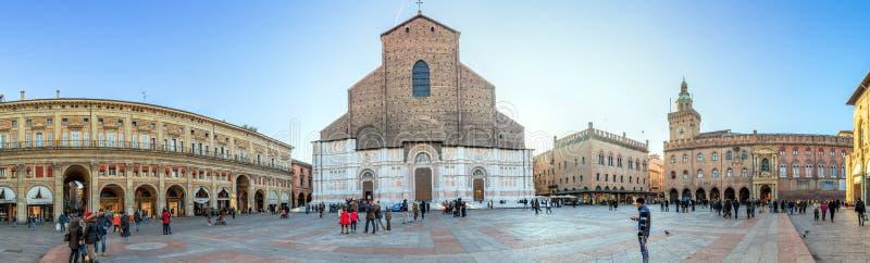 Basilica Di SAN Petronio, πλατεία Maggiore, Μπολόνια στοκ εικόνες