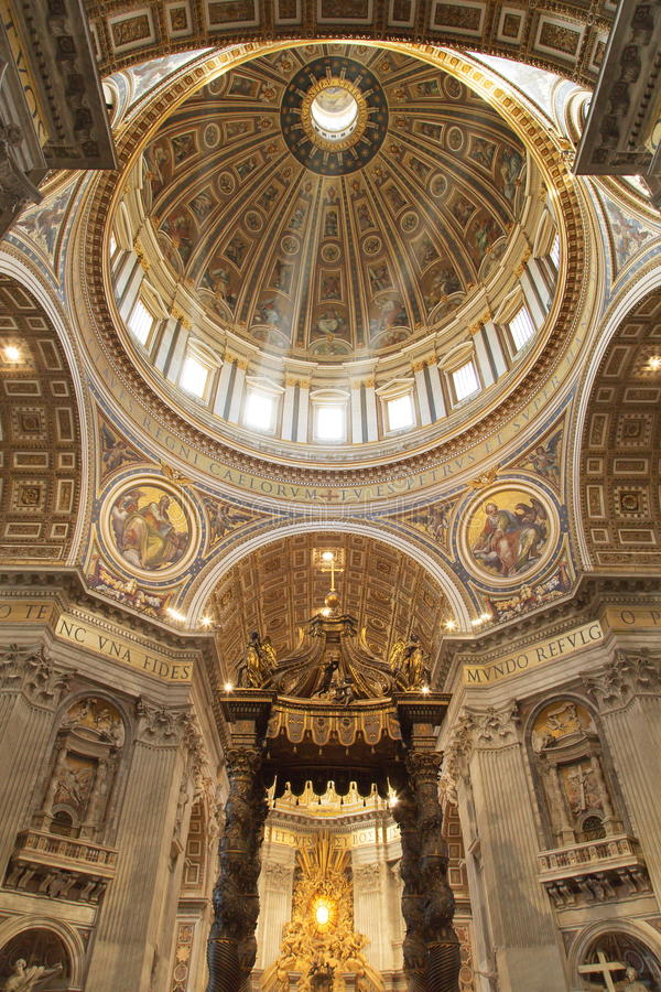 Basilica di San Pietro lizenzfreie stockfotos