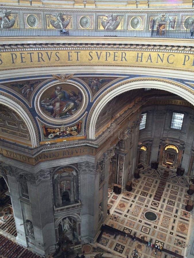 Basilica di San Pietro nella città del Vaticano a Roma immagini stock libere da diritti
