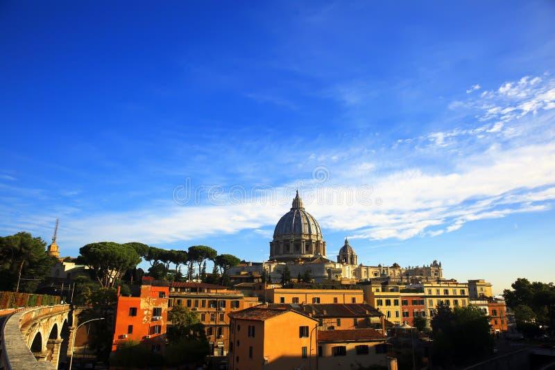 Basilica di San Pietro, Vatican, Roma, Italia fotografia stock libera da diritti