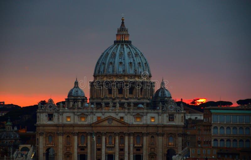 Basilica Di San Pietro, Vatikaan, Rome, Itali? stock foto