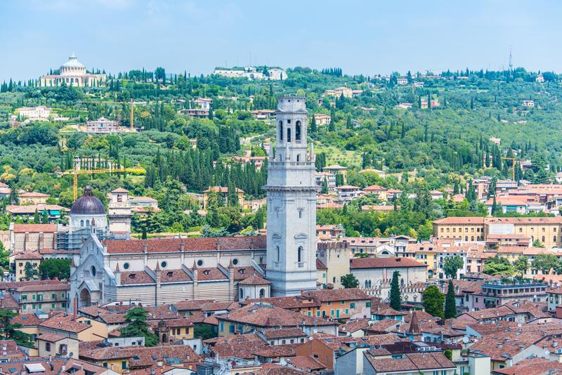 Basilica of San Zeno, Verona, Italy stock photo