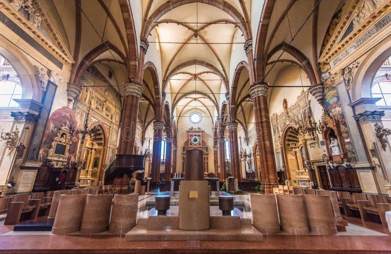 Basilica of San Zeno, Verona, Italy stock image