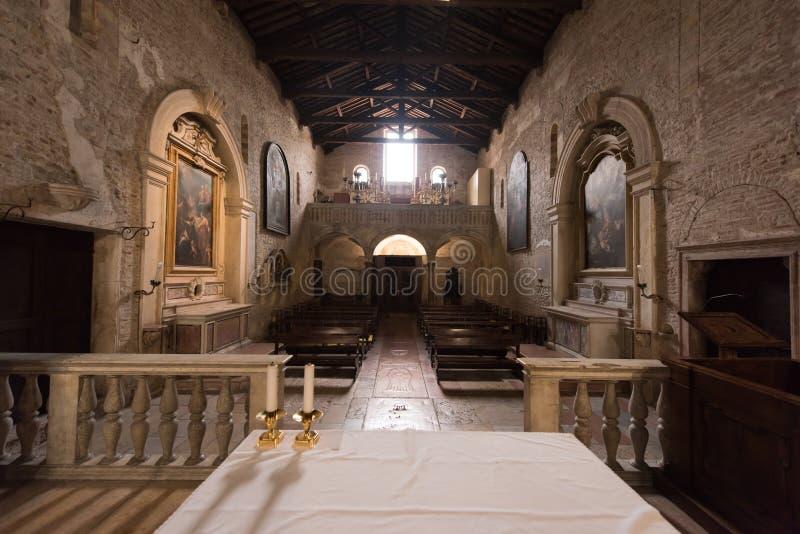 Basilica of San Zeno, Verona, Italy stock images