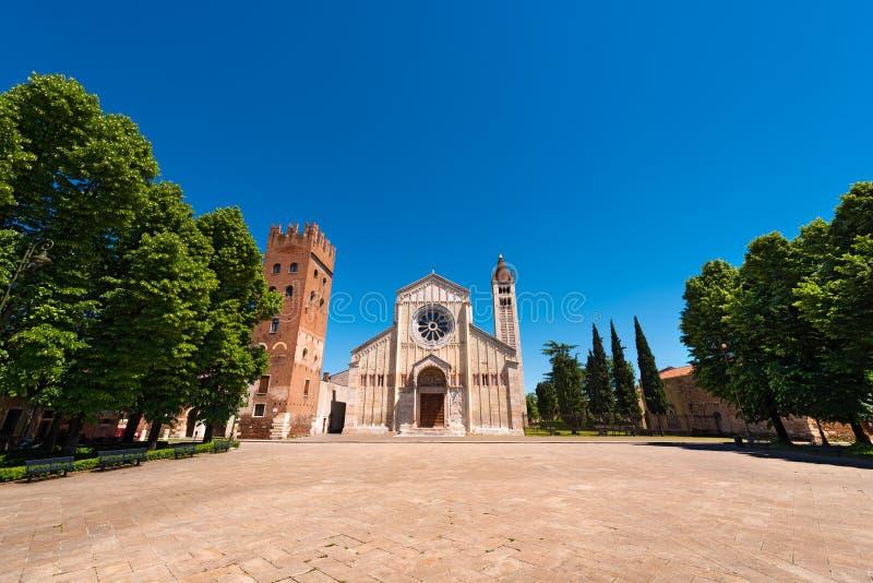 Basilica di San Zeno Verona - l'Italia immagini stock libere da diritti
