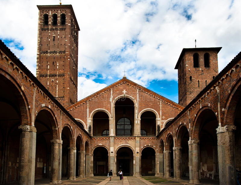Basilica di Sant'Ambrogio royalty free stock photography