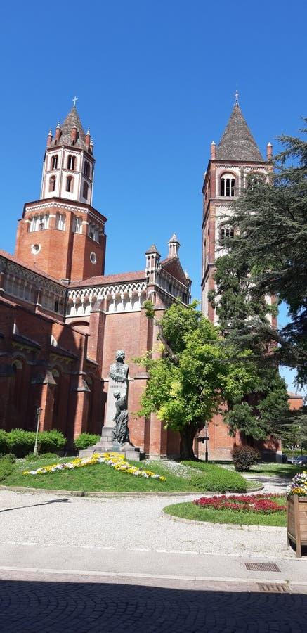 Basilica di Sant& x27; Andrea ein Vercelli stockfoto