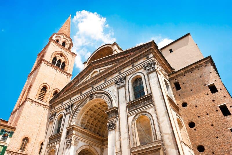 Basilica Di Sant Andrea in Mantua, Lombardije, Italië stock afbeeldingen