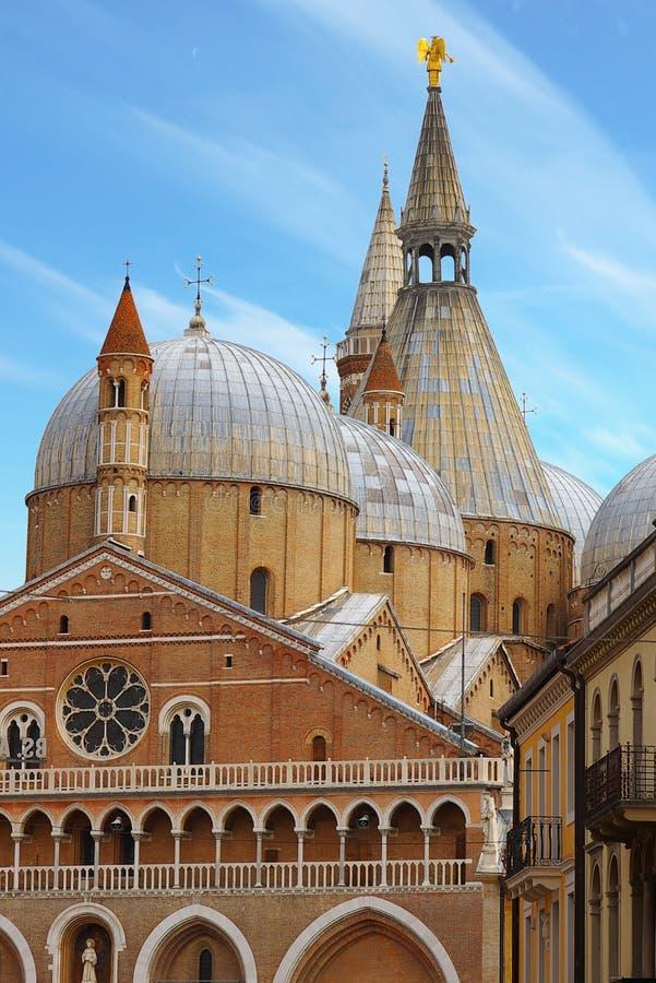 Basilica di Sant'Antonio in Padova, Italy. On the photo: Basilica di Sant'Antonio in Padova, Italy royalty free stock images