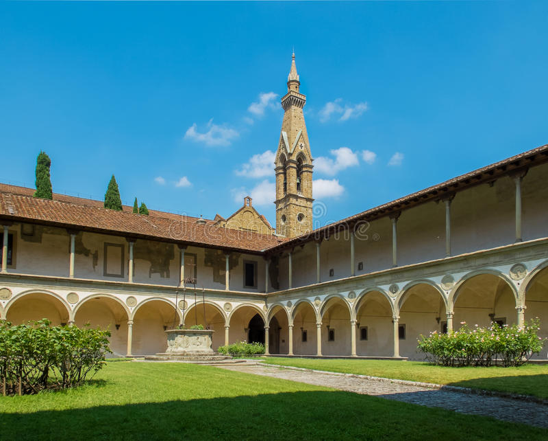 Basilica Di Santa Croce. Φλωρεντία, Ιταλία στοκ φωτογραφία με δικαίωμα ελεύθερης χρήσης